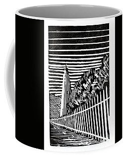 Coffee Mug featuring the painting Ocracoke Island Lighthouse by Ryan Fox