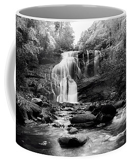 October At Bald River Falls In Black And White Coffee Mug