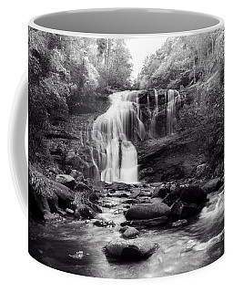 October At Bald River Falls Sepia Coffee Mug