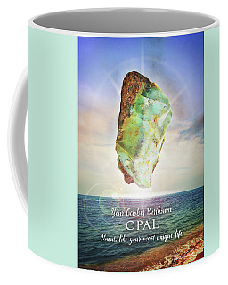 October Birthstone Opal Coffee Mug