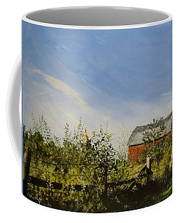 October Fence Coffee Mug