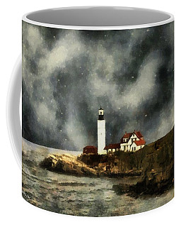 October Night, Portland Head Coffee Mug