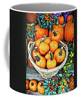Coffee Mug featuring the photograph October Pumpkins by Joan Reese