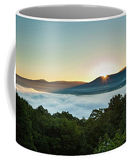 Coffee Mug featuring the photograph October Sunrise 2016 by Lara Ellis