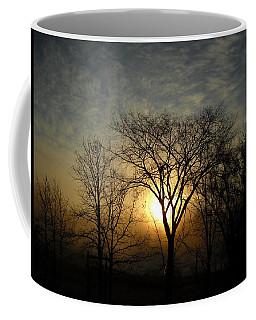 October Sunrise Behind Elm Tree Coffee Mug by Kent Lorentzen