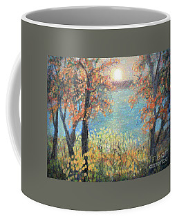 Coffee Mug featuring the painting October Sunset by Rita Brown