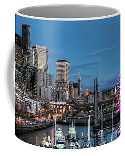October Twilight Seattle Waterfront Coffee Mug