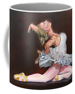 Coffee Mug featuring the painting Oddette by Phyllis Beiser