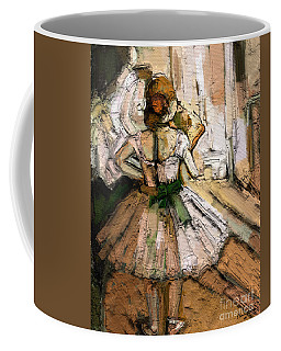 Coffee Mug featuring the painting Ode To Degas by Carrie Joy Byrnes