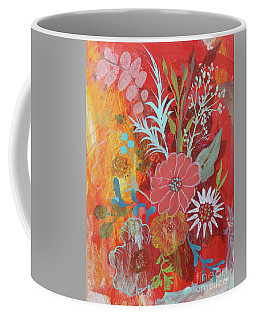 Coffee Mug featuring the painting Ode To Spring by Robin Maria Pedrero