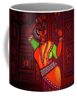Odissi Dancer Coffee Mug by Latha Gokuldas Panicker