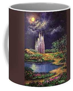 Of Glass Castles And Moonlight Coffee Mug by Randy Burns