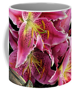 Coffee Mug featuring the digital art Offering #4 by Karo Evans