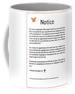 Office Notice Coffee Mug by Richard Reeve