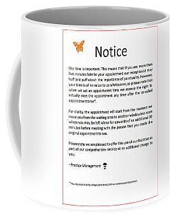 Office Notice Coffee Mug