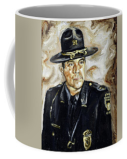 Coffee Mug featuring the painting Officer Demaree by Ryan Demaree