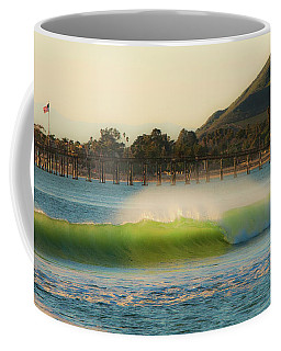 Offshore Wind Wave And Ventura, Ca Pier Coffee Mug