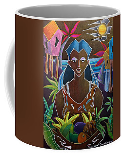 Coffee Mug featuring the painting Ofrendas De Mi Tierra II by Oscar Ortiz
