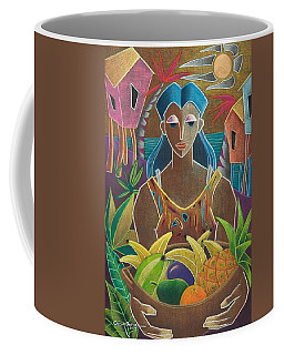 Coffee Mug featuring the painting Ofrendas De Mi Tierra by Oscar Ortiz