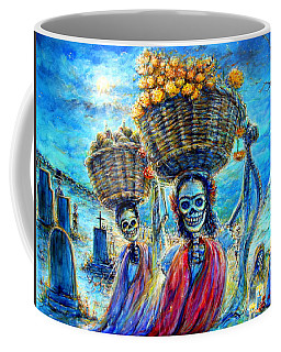 Coffee Mug featuring the painting Ofrendas by Heather Calderon