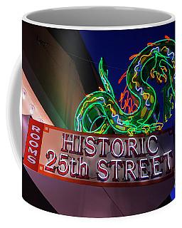 Ogden's Historic 25th Street Neon Dragon Sign Coffee Mug by Gary Whitton