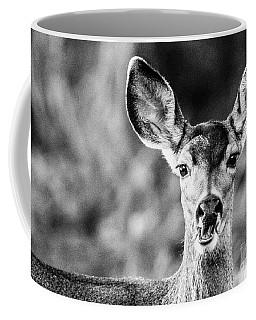 Oh, Deer, Black And White Coffee Mug