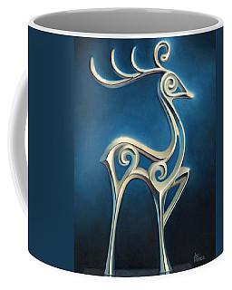Coffee Mug featuring the painting Oh Deer by Joe Winkler