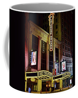 Coffee Mug featuring the photograph Ohio And State Theater by Frozen in Time Fine Art Photography