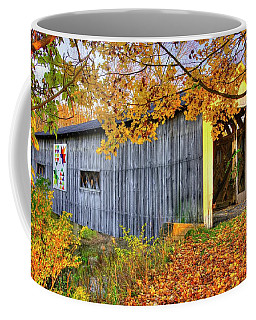 Ohio Country Roads - South Denmark Road Covered Bridge Over Mill Creek - Ashtabula County Coffee Mug