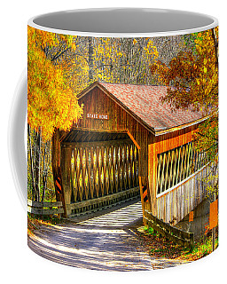 Ohio Country Roads - State Road Covered Bridge Over Conneaut Creek No. 11 - Ashtabula County Coffee Mug by Michael Mazaika