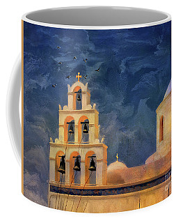 Coffee Mug featuring the photograph Oia Sunset Imagined by Lois Bryan
