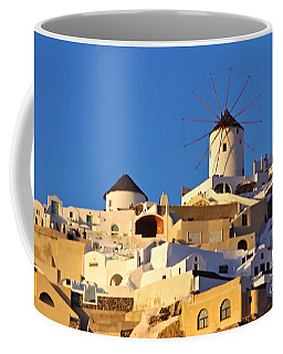 Oia Windmill Coffee Mug