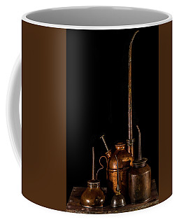 Coffee Mug featuring the photograph Oil Cans by Paul Freidlund