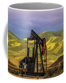 Coffee Mug featuring the photograph Oil Field And Temblor Hills by Marc Crumpler