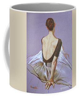 Oil Painting Ballet Dancer Girl  On Canvas Panel#16-12-2 Coffee Mug by Hongtao Huang