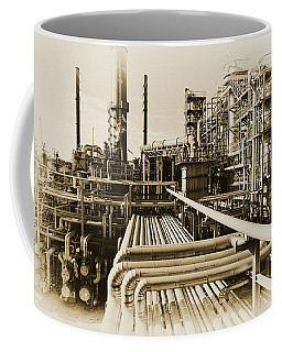 Oil Refinery In Old Vintage Processing Concept Coffee Mug