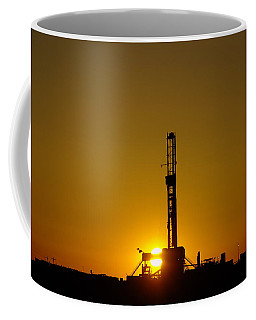 Oil Rig Near Killdeer In The Morn Coffee Mug