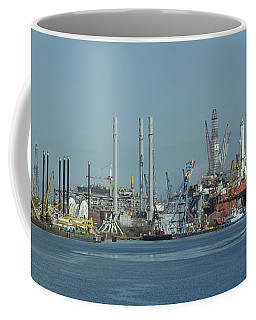 Oil Rigs At Galveston Coffee Mug