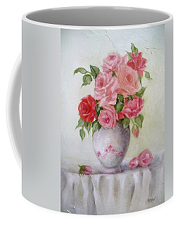 Oil Vase Rose Coffee Mug