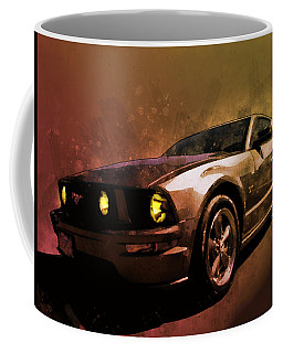Oily Mustanger Slipping Into Darkness Watercolour Coffee Mug