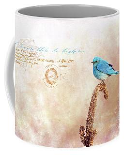 Oiseau Bleu De Bonheur Coffee Mug by Beve Brown-Clark Photography