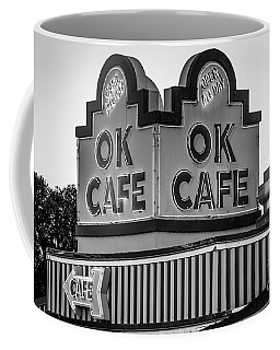 Ok Cafe Neon 2 B W Atlanta Classic Landmark Restaurant Art Coffee Mug