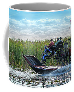 Okeechobee Airboat Journey Coffee Mug