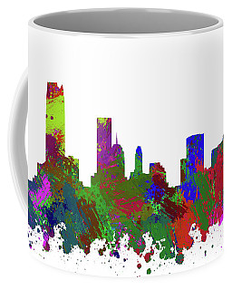 Oklahoma City Skyline Painted Coffee Mug