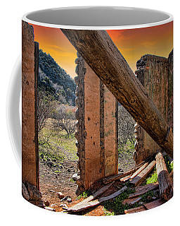 Ol' Building In Desert's Winter Warmth Coffee Mug by Charles Ables