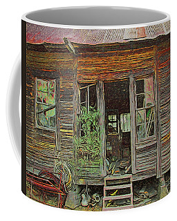 Old Abandoned House - Ghost Dogs Trotting Coffee Mug by Rebecca Korpita