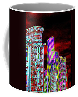 Old And New Seattle Coffee Mug by Tim Allen