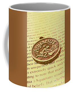 Old Aquarius Astrology Coffee Mug