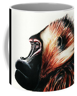 Old Baboon Animal Art Drawing Coffee Mug