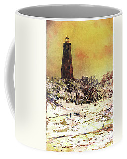 Coffee Mug featuring the painting Old Baldy Lighthouse- North Carolina by Ryan Fox
